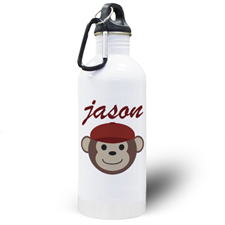 Personalized Photo Monkey Boy Water Bottle