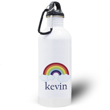 Personalized Photo Rainbow Water Bottle
