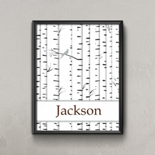 Family Tree One Black Bird Personalized Poster Print, Small 8.5