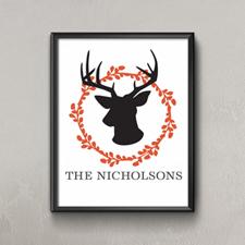 Orange Deer Personalized Poster Print, Small 8.5