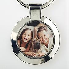 Custom Photo Metal Round Keychain, Small