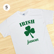 Irish, White T-Shirt