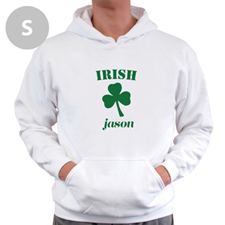 Personalized Irish, White Hoodie Sweatshirt