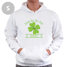 Personalized Irish Drinking League, White Hoodie Sweatshirt