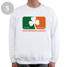 Design Your Own Irish Drinking League, White Sweatshirt