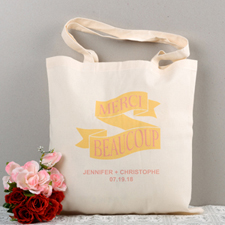 Merci Beaucoup Personalized Tote Bag