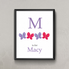 Butterflies Personalized Poster Print For Kids