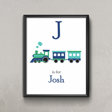 Train Personalized Poster Print For Kids