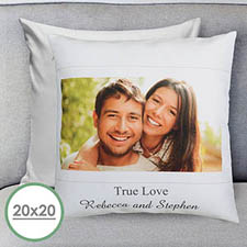 Photo Message Personalized Large Pillow Cushion Cover 20