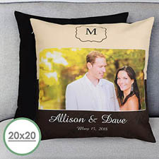 Wedding Day Personalized Large Pillow Cushion Cover 20