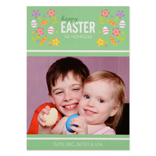 Create Your Own Easter Confetti Personalized Photo Card 5X7