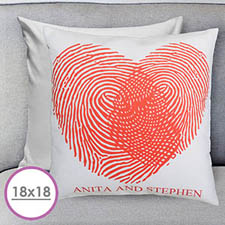 Heart Fingerprint Personalized Large Cushion 18