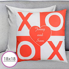 Xoxo Personalized Large Cushion 18