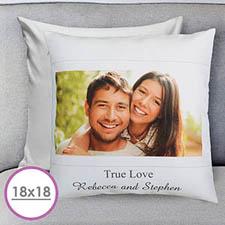 Photo Message Personalized Large Cushion 18