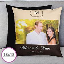 Wedding Day Personalized Large Cushion 18