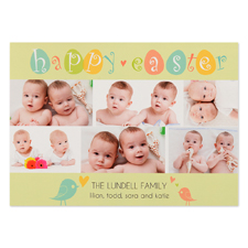 Create Your Own Easter Chicks Personalized Photo Card 5X7