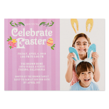 Create Your Own Celebrate Easter Personalized Photo Card 5X7