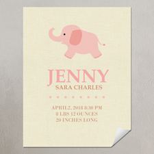 Elephant Girl Personalized Poster Print, small