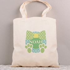 Green Ribbon Personalized Easter Tote Bag