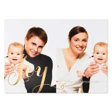 Create Your Own Joy Two Collage Personalized Photo Foil Card Gold Card Invites