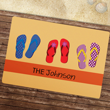 Create Your Own Flip Flops Pattern Door Mat