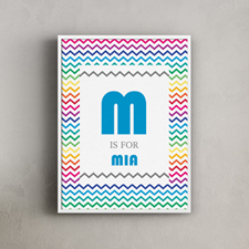Colorful Chevron Personalized Poster Print, 18X24