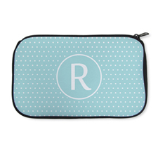 Personalized Neoprene Polka Dots Cosmetic Bag (6 X 10 Inch)