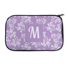 Personalized Neoprene Floral Vintage Cosmetic Bag (6 X 10 Inch)