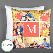 Six Collage Personalized Photo Large Pillow Cushion Cover 20