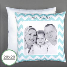 Chevrons Personalized Photo Large Pillow Cushion Cover 20