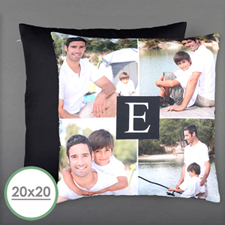 Initial Personalized Photo Large Pillow Cushion Cover 20