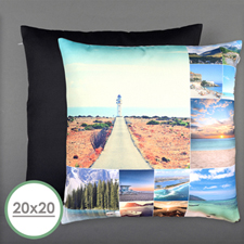 Twelve Collage Photo Personalized Large Pillow Cushion Cover 20