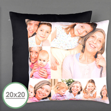 Six Collage Photo Personalized Pillow 20 Inch  Cushion (No Insert)