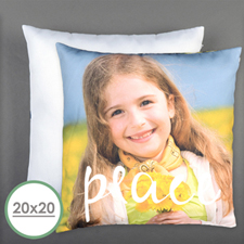 Peace Personalized Pillow 20 Inch  Cushion (No Insert)