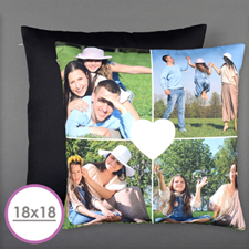Heart Personalized Photo Large Cushion 18