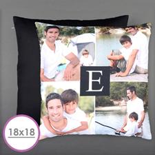 Initial Personalized Photo Large Cushion 18