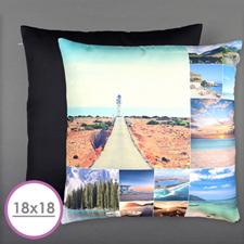 Twelve Collage Photo Personalized Large Cushion 18