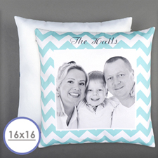 Chevrons Personalized Photo Pillow Cushion Cover 16