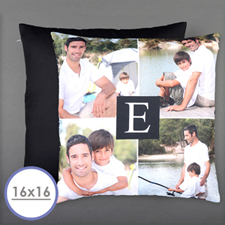 Initial Personalized Photo Pillow Cushion Cover 16