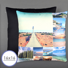Twelve Collage Photo Personalized Pillow Cushion Cover 16
