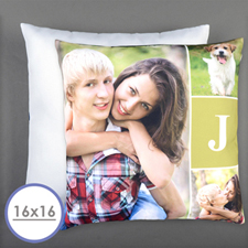 Monogrammed Personalized Photo Pillow 16 Inch  Cushion (No Insert)