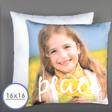 Peace Personalized Pillow 16 Inch  Cushion (No Insert)