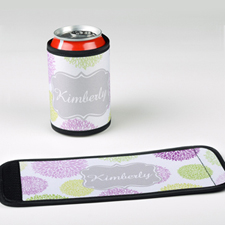 Mint Lavender Personalized Can And Bottle Wrap
