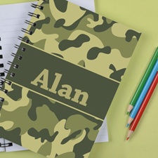Personalized Camo Green Notebook