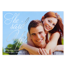 Create Your Own Painted Foil Silver Personalized Wedding Announcement Card Invites