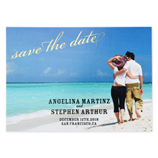Create Your Own Flourish Foil Gold Personalized Wedding Save The Date Card Card Invites