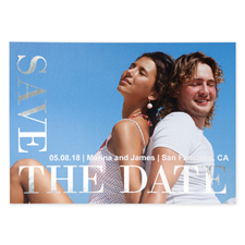 Love Connection Foil Silver Personalized Photo Save The Date Cards