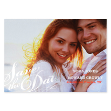 Sweet Embrace Foil Gold Personalized Photo Save The Date Cards