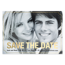 Elegant Foil Gold Personalized Photo Save The Date Card Cards
