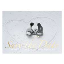 Hold The Date Foil Gold Personalized Photo Save The Date Cards
